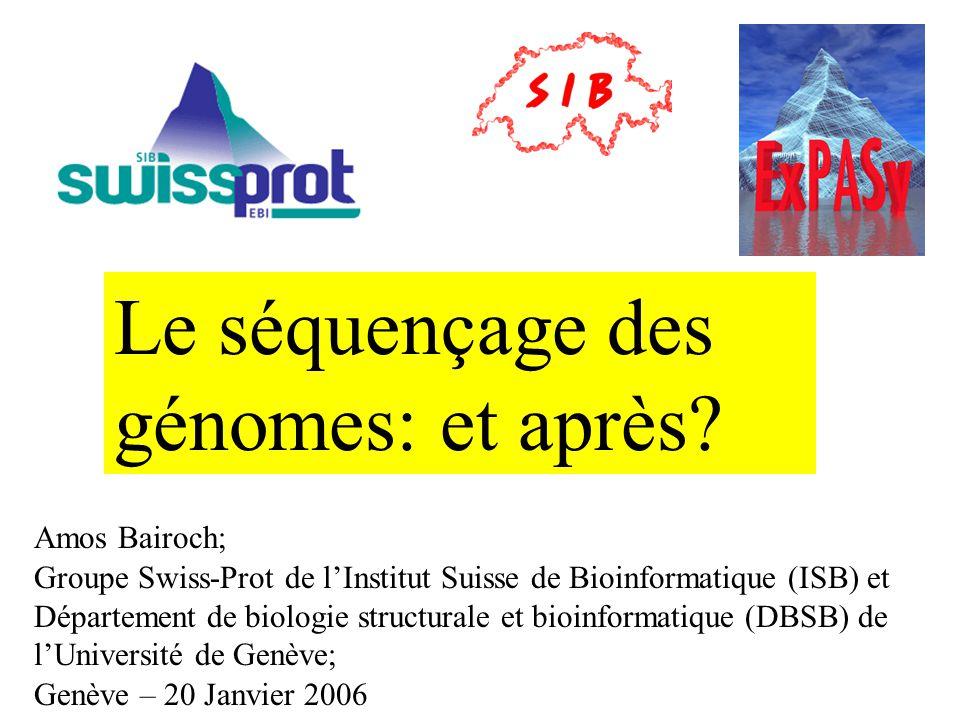 Le séquençage des génomes: et après