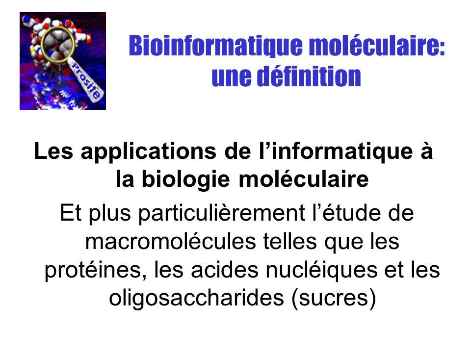 Les applications de l'informatique à la biologie moléculaire