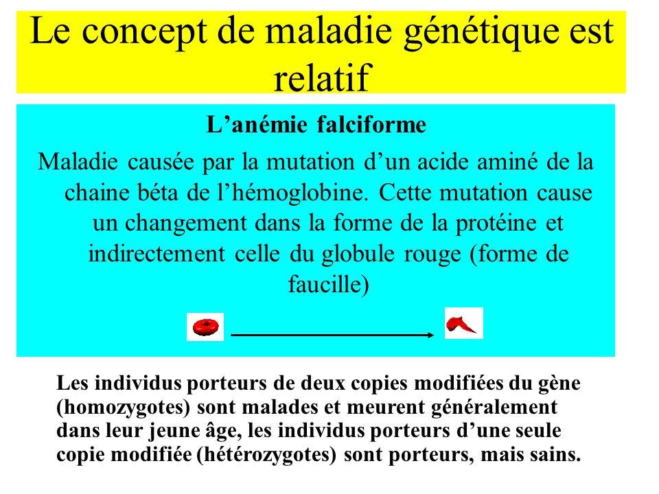 Le concept de maladie génétique est relatif