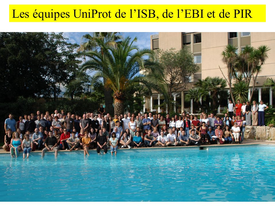 Les équipes UniProt de l'ISB, de l'EBI et de PIR