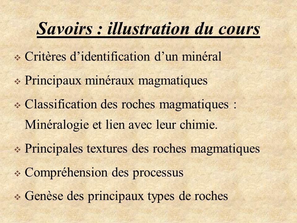 Savoirs : illustration du cours