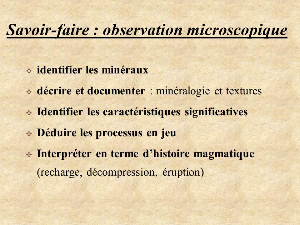 Savoir-faire : observation microscopique