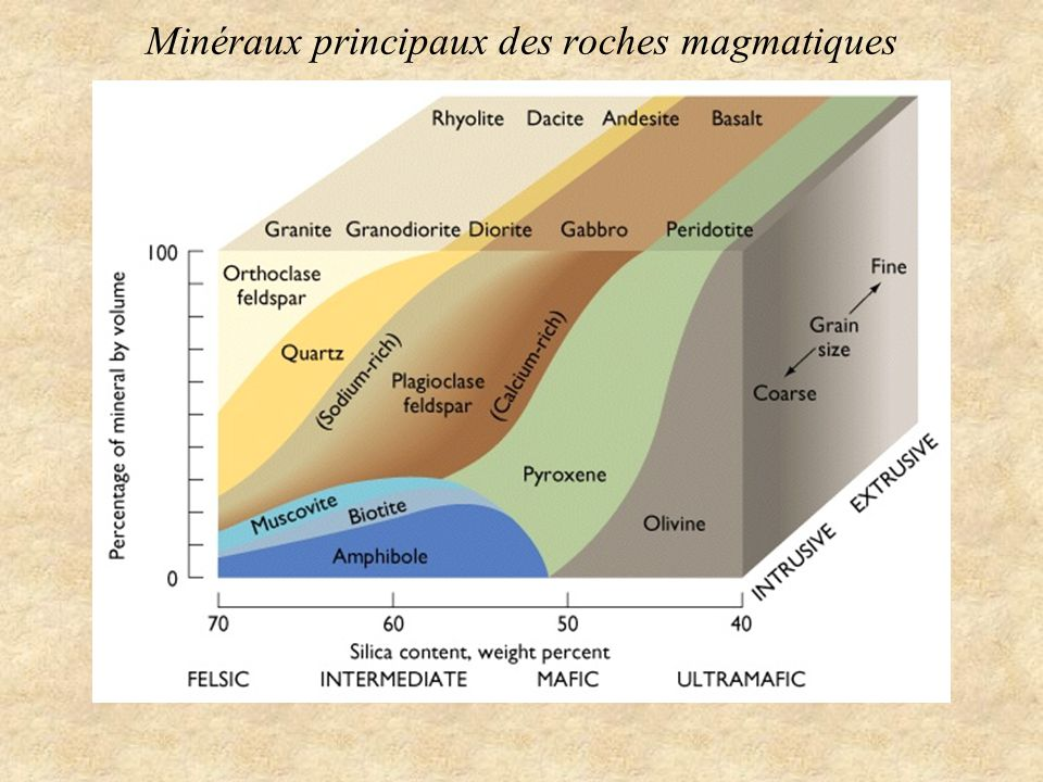 Minéraux principaux des roches magmatiques
