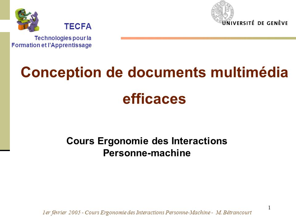 Conception de documents multimédia efficaces