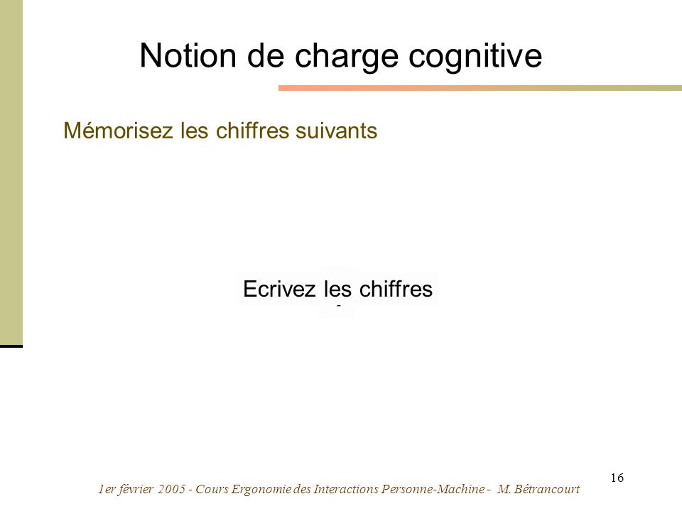 Notion de charge cognitive