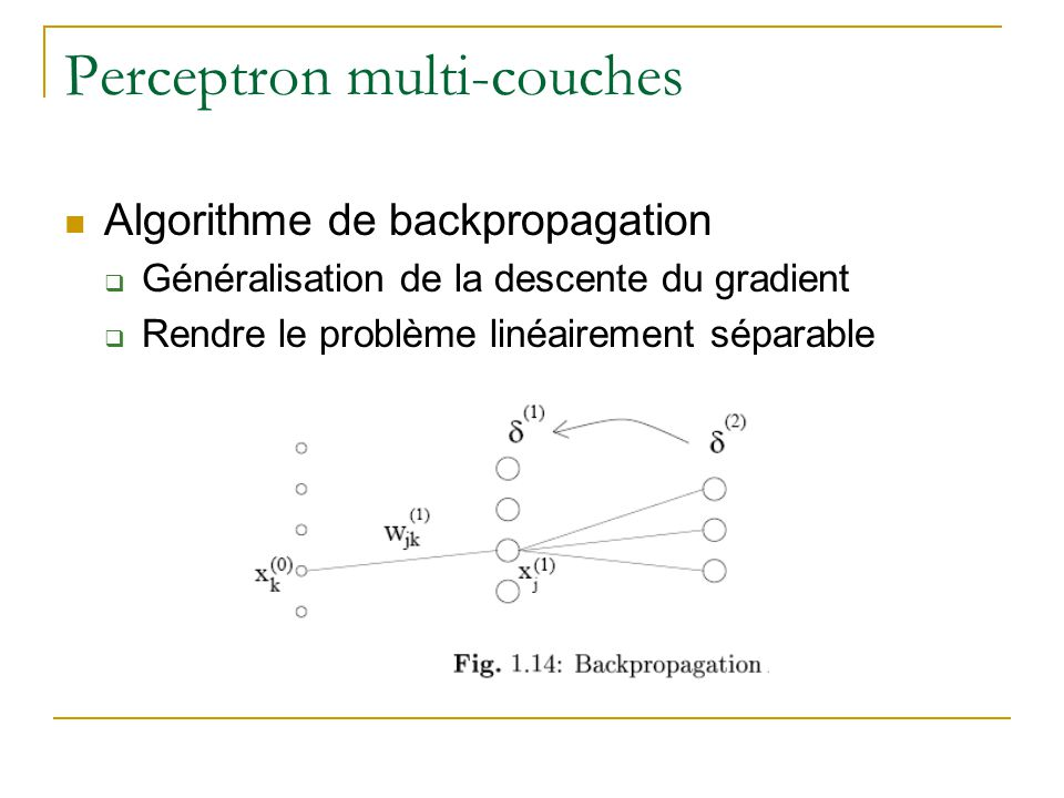 Perceptron multi-couches