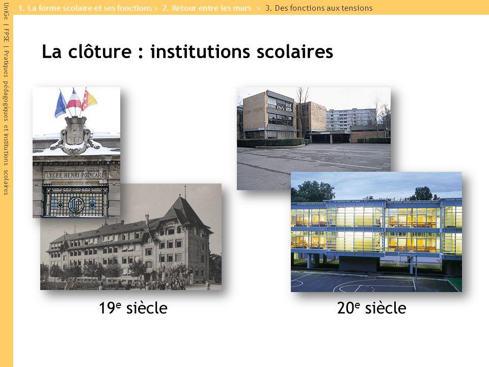 La clôture : institutions scolaires