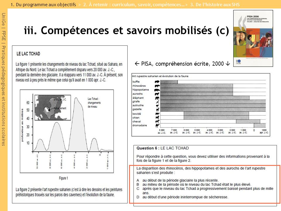 iii. Compétences et savoirs mobilisés (c)