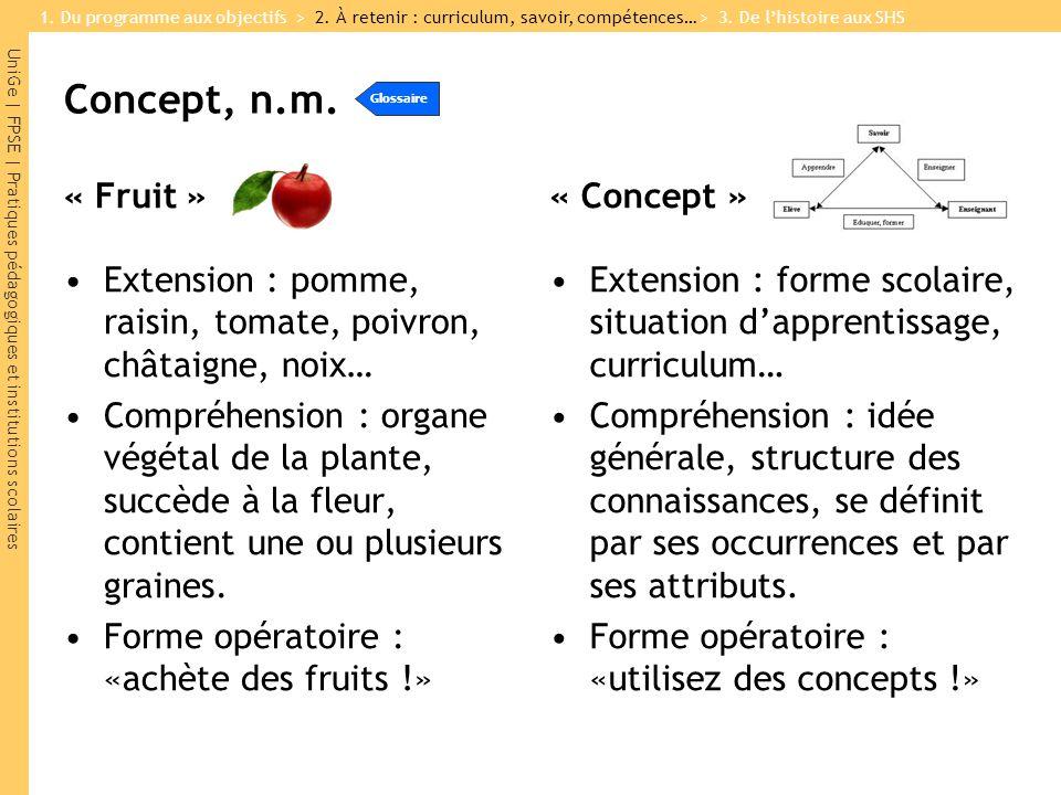 Concept, n.m. « Fruit » « Concept »