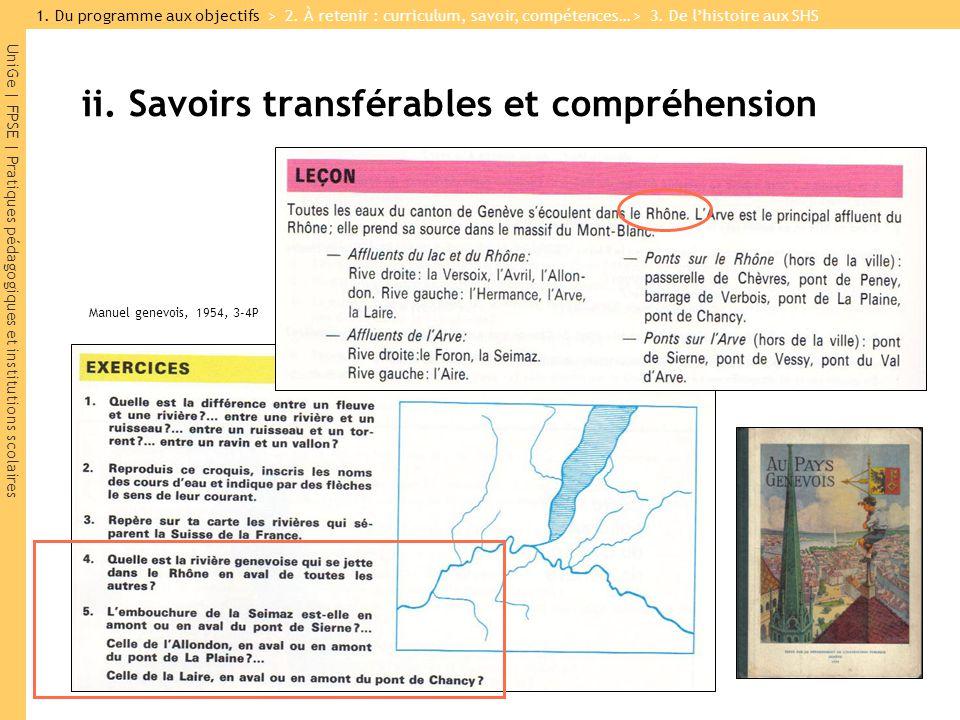 ii. Savoirs transférables et compréhension