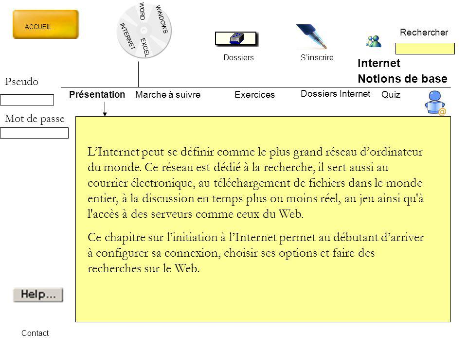 WORD WINDOWS. ACCUEIL. Rechercher. INTERNET. EXCEL. Dossiers. S'inscrire. Internet. Notions de base.