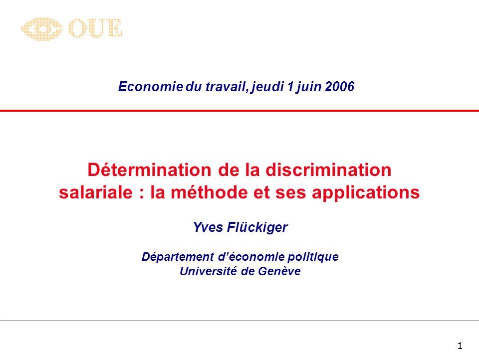 Détermination de la discrimination