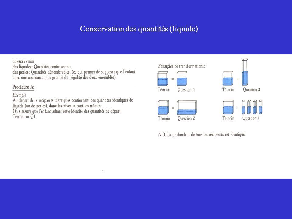 Conservation des quantités (liquide)