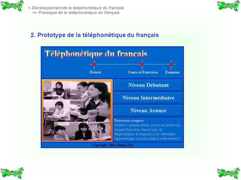 2. Prototype de la téléphonétique du français