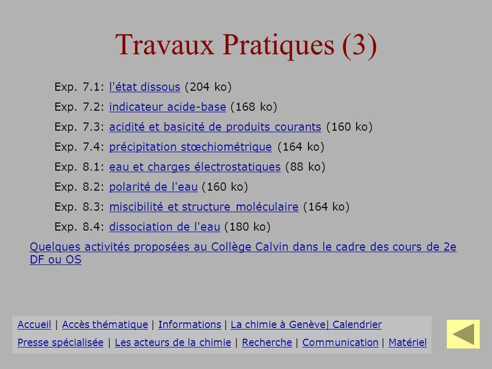 Travaux Pratiques (3) Exp. 7.1: l état dissous (204 ko)