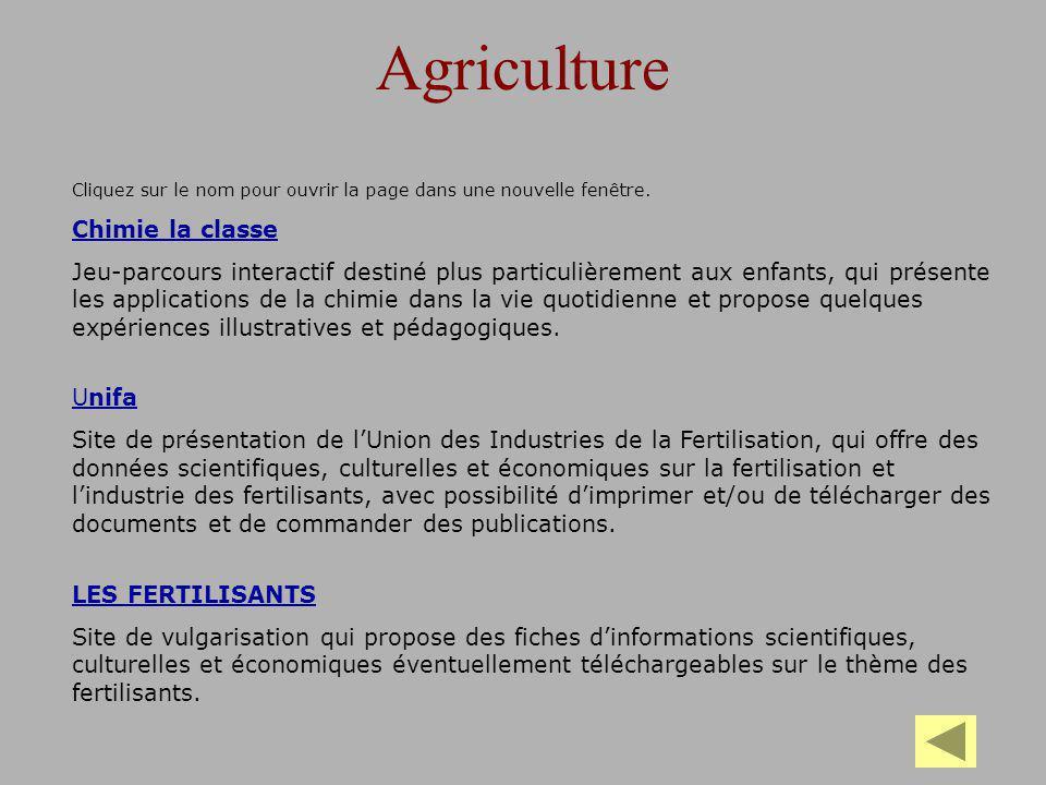 Agriculture Chimie la classe