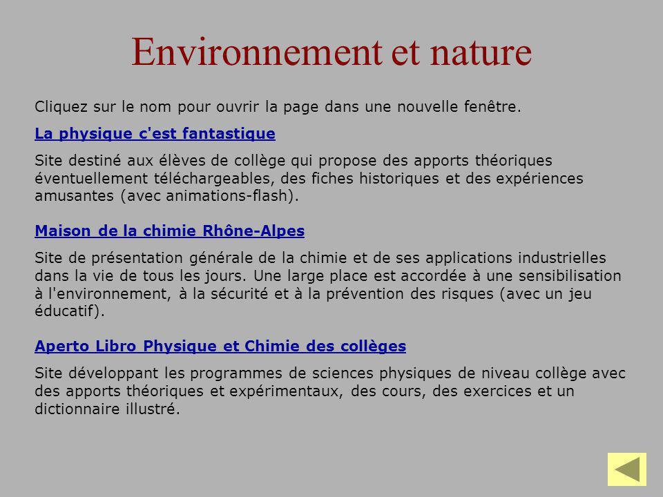 Environnement et nature