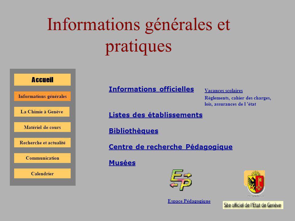 Informations générales et pratiques