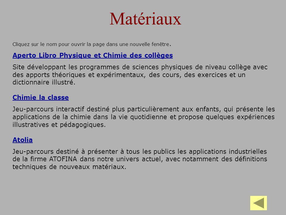 Matériaux Aperto Libro Physique et Chimie des collèges