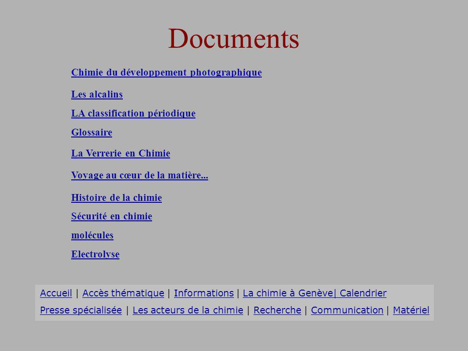 Documents Chimie du développement photographique Les alcalins
