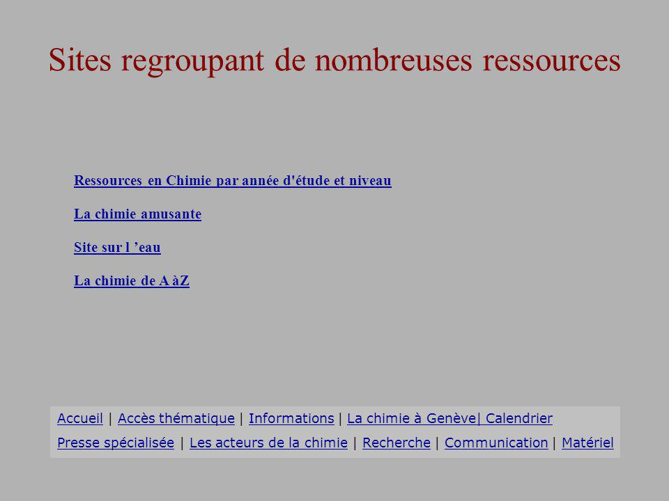 Sites regroupant de nombreuses ressources