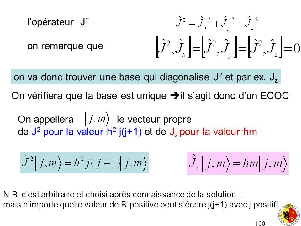 on va donc trouver une base qui diagonalise J2 et par ex. Jz