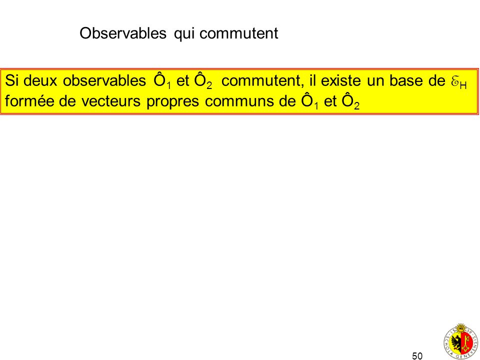 Observables qui commutent