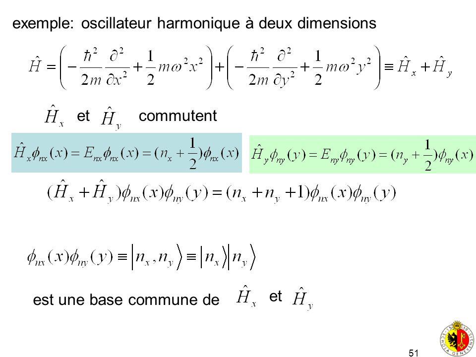 exemple: oscillateur harmonique à deux dimensions