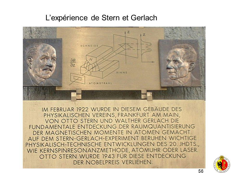 L'expérience de Stern et Gerlach