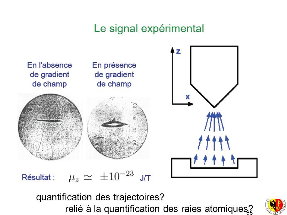 quantification des trajectoires
