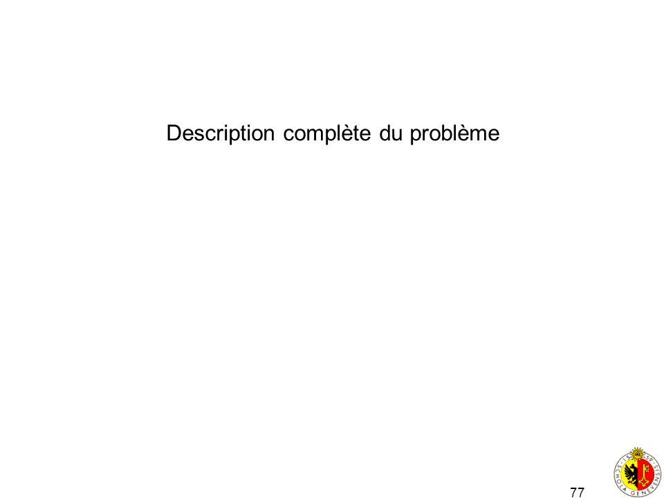 Description complète du problème