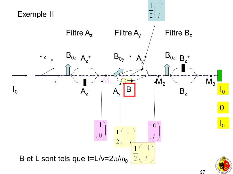 B et L sont tels que t=L/v=2/0