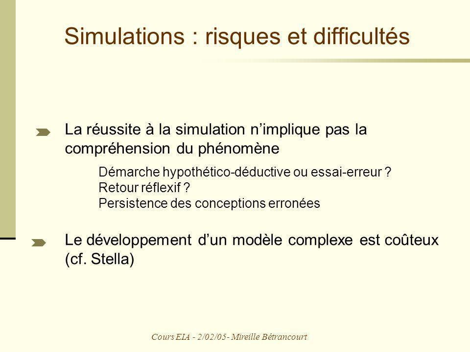 Simulations : risques et difficultés