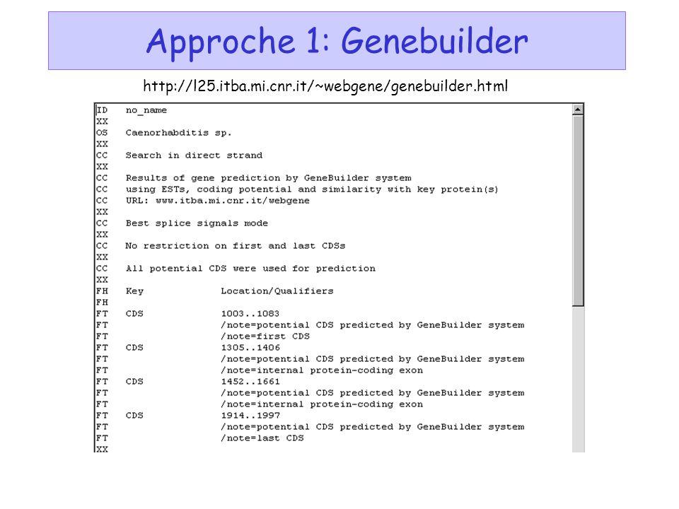 Approche 1: Genebuilder