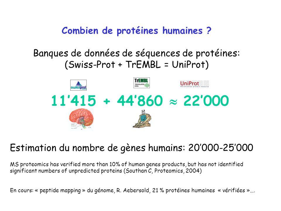 Combien de protéines humaines