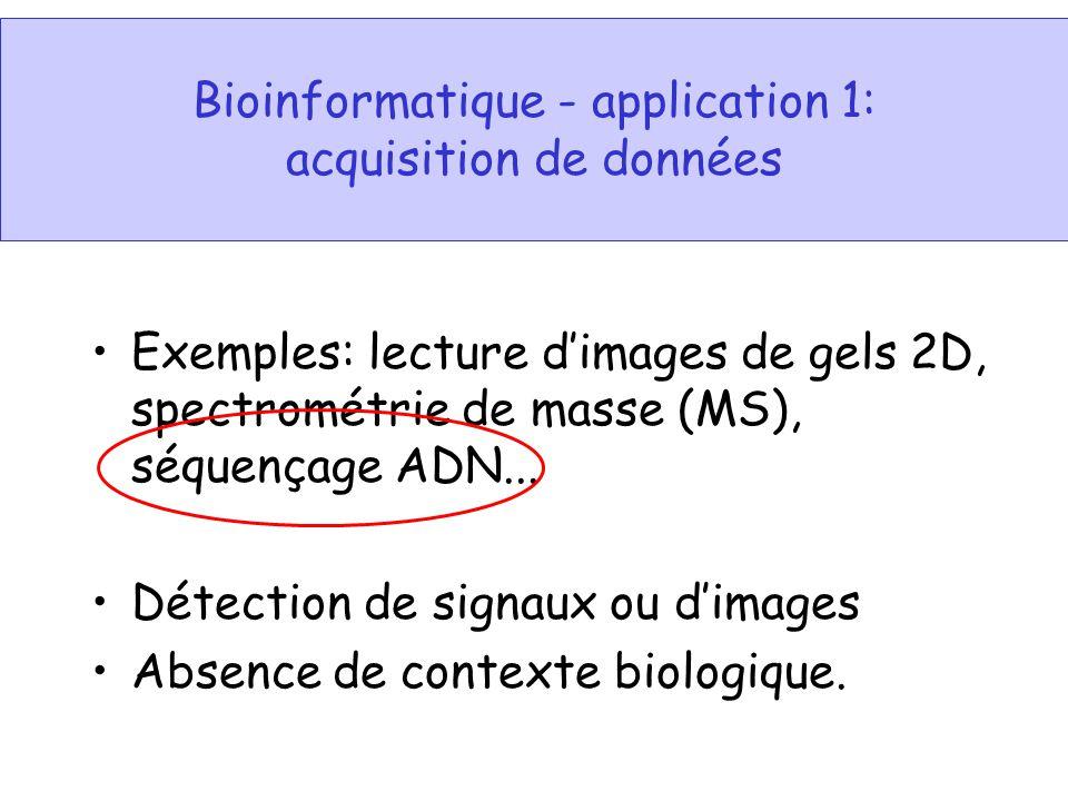 Bioinformatique - application 1: acquisition de données