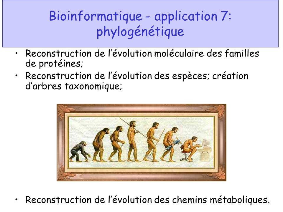 Bioinformatique - application 7: phylogénétique