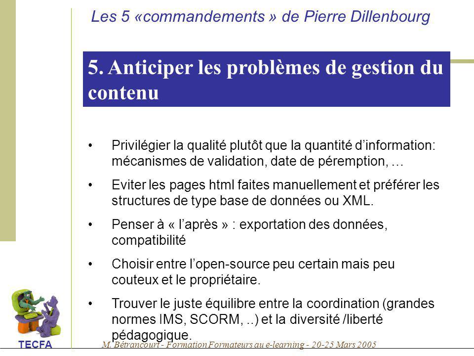 5. Anticiper les problèmes de gestion du contenu