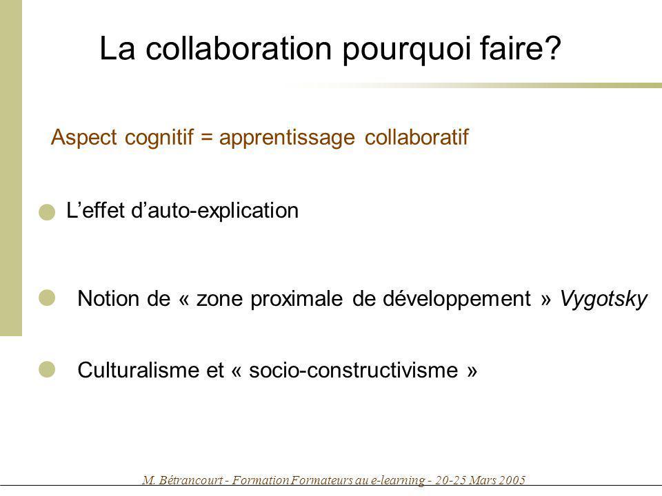 La collaboration pourquoi faire
