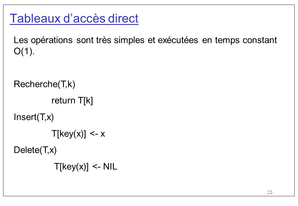 Expressions r guli res et hash tables ppt video online for Adresse direct 8