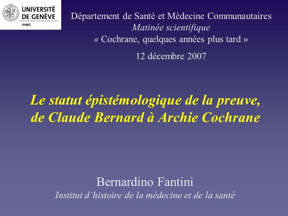 Bernardino Fantini Institut d'histoire de la médecine et de la santé