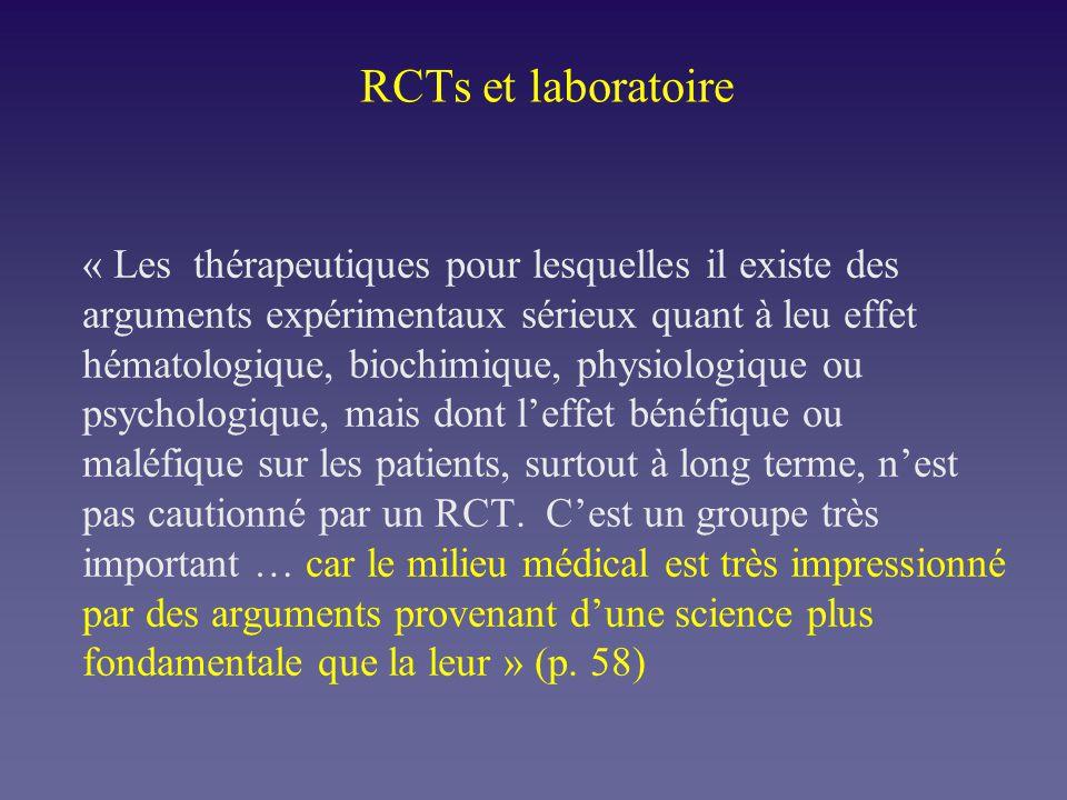 RCTs et laboratoire