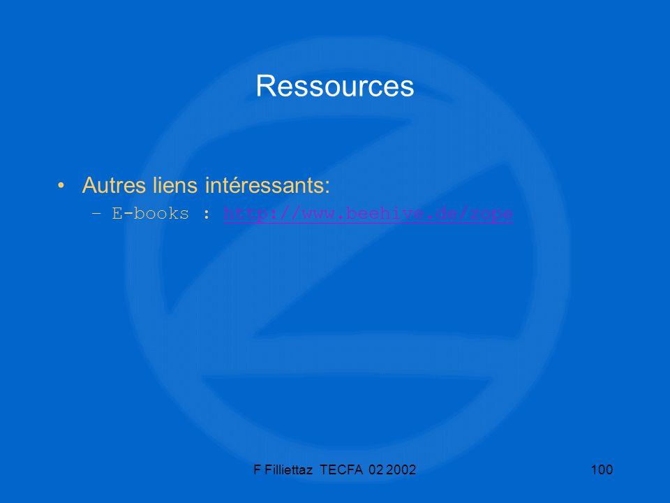 Ressources Autres liens intéressants: