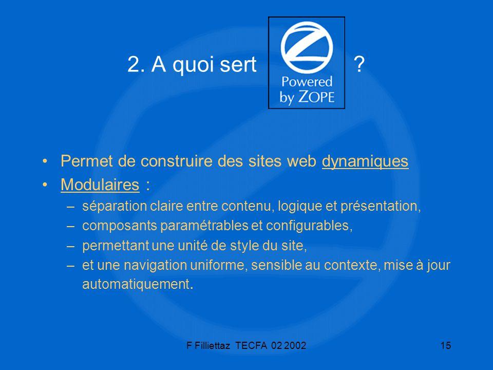 2. A quoi sert Permet de construire des sites web dynamiques