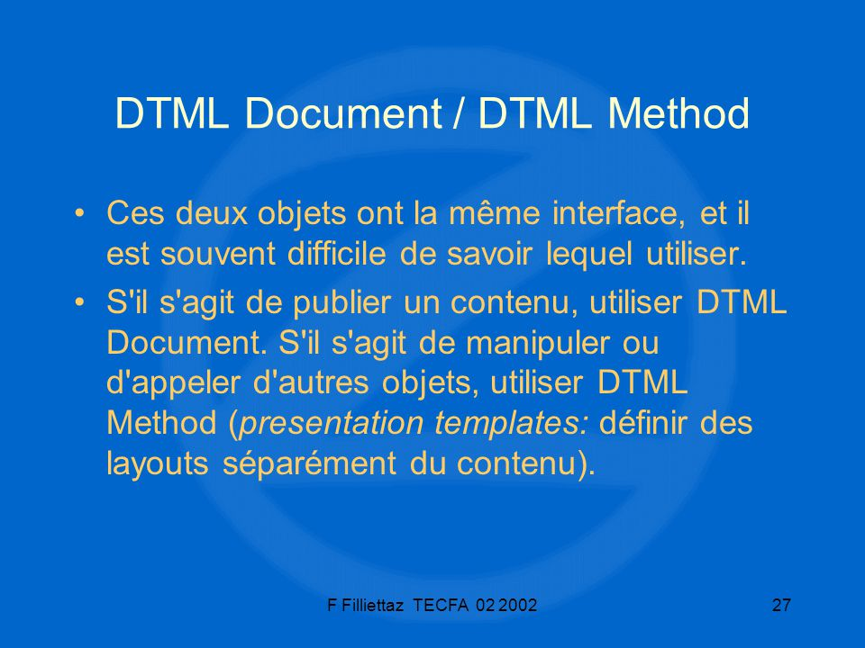 DTML Document / DTML Method