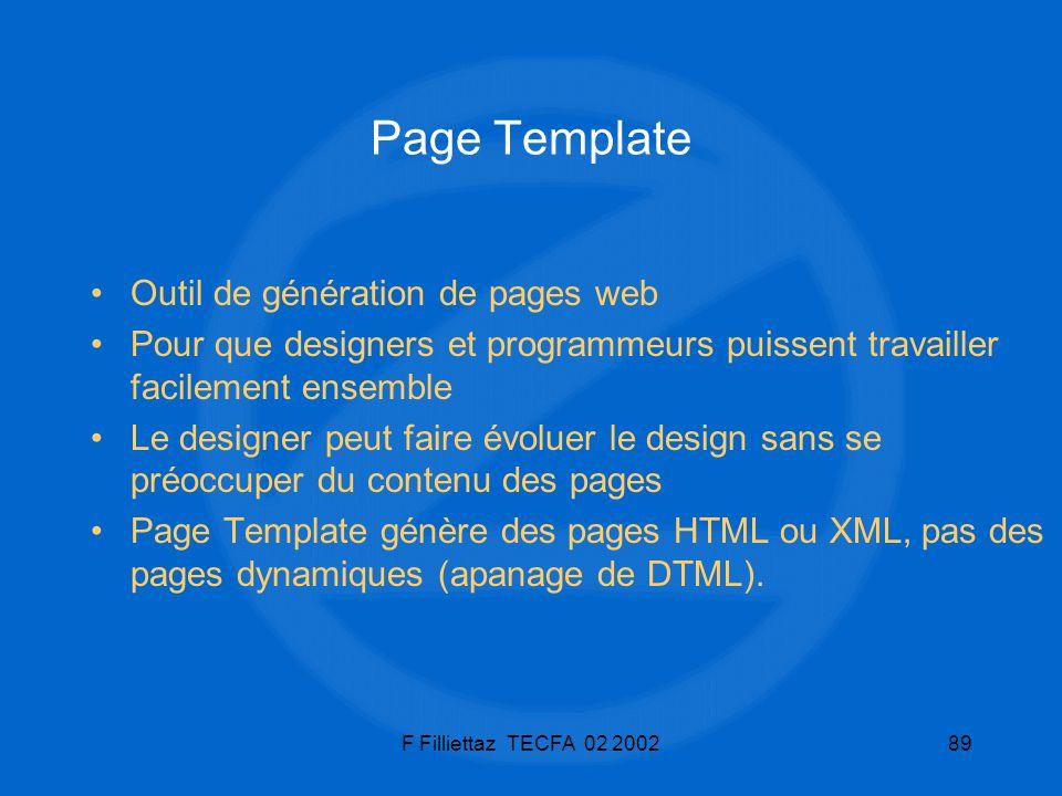 Page Template Outil de génération de pages web