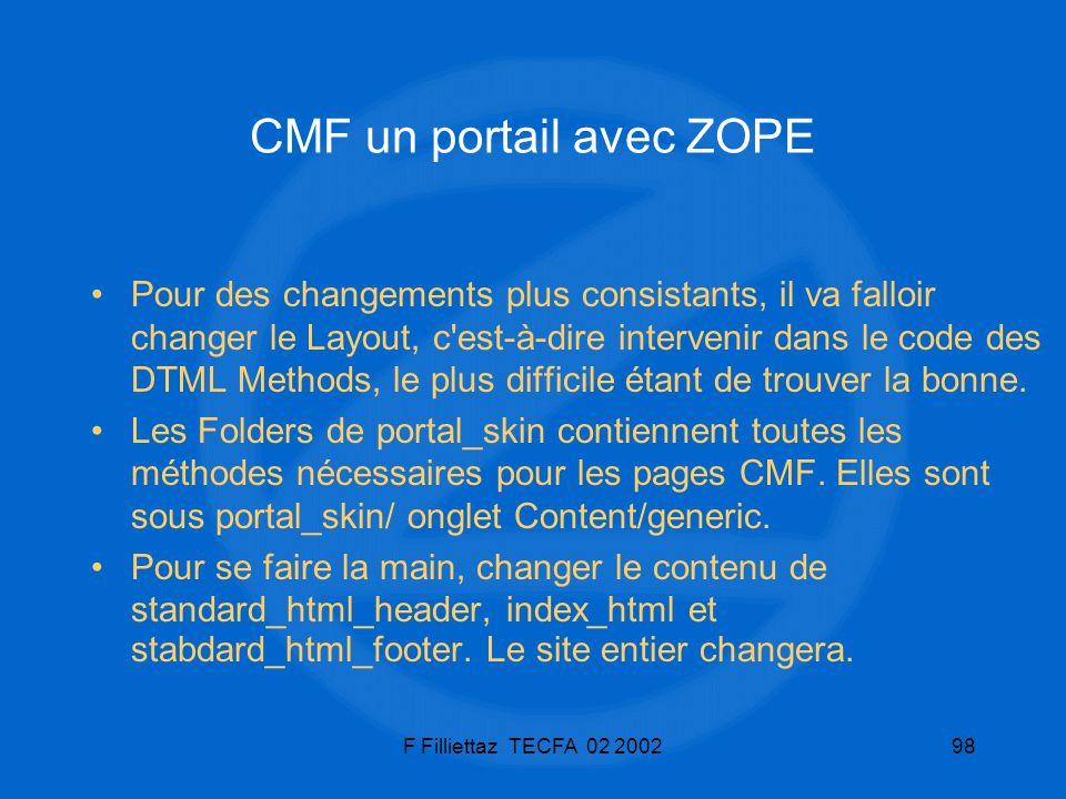 CMF un portail avec ZOPE