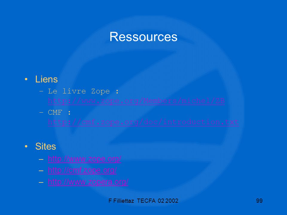 Ressources Liens Sites