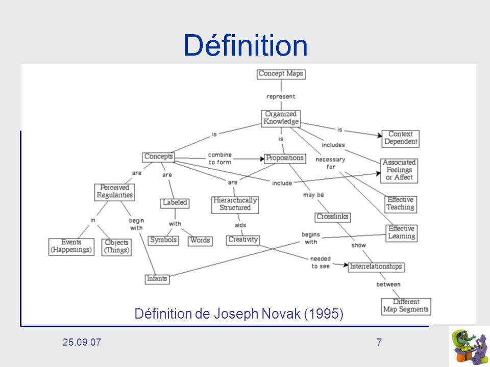 Définition Définition de Joseph Novak (1995) 25.09.07
