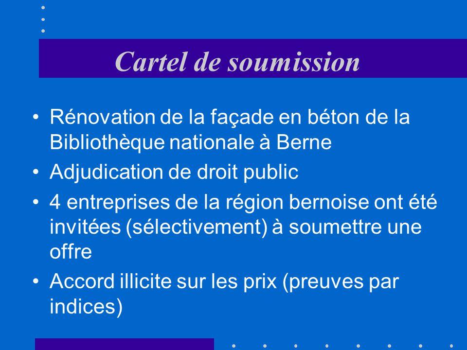 Cartel de soumission Rénovation de la façade en béton de la Bibliothèque nationale à Berne. Adjudication de droit public.